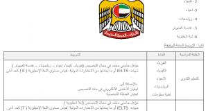 وظائف وزارة التربية والتعليم بالامارات